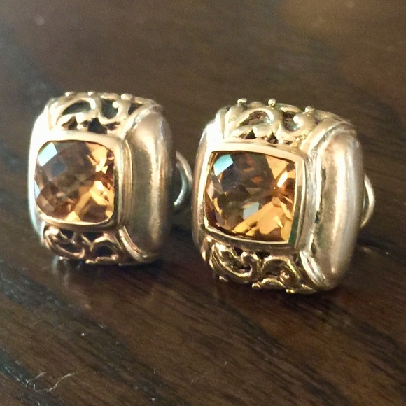 Jewelry - Sterling Silver and Gold Citrine Earrings